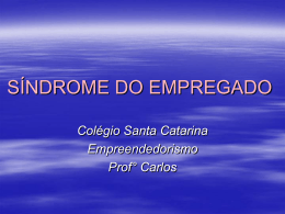 SÍNDROME DO EMPREGADO