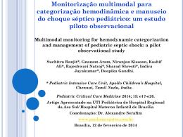 UTI PEDIÁTRICA:Monitorização multimodal para categorização