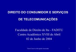 Direito do Consumidor e Serviços de Telecominicações