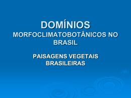 DOMÍNIOS MORFOCLIMATOBOTÂNICOS NO BRASIL