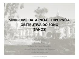 síndrome da apnéia – hipopnéia obstrutiva do sono