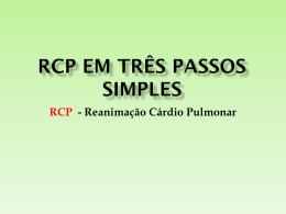 RCP EM TRÊS PASSOS SIMPLES