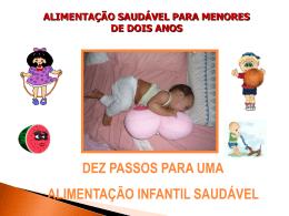 DEZ PASSOS PARA UMA ALIMENTAÇÃO SAUDÁVEL INFANTIL