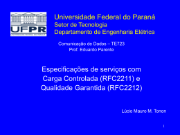 Circuitos Combinacionais - Universidade Federal do Paraná