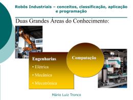 Robôs Industriais – conceitos, classificação, aplicação e programação