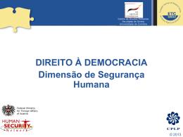Democracia e Segurança Humana