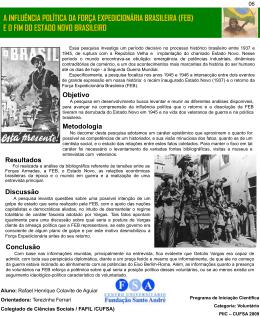 Lívia Cotrim Colegiado de Ciências Sociais / FAFIL / CUFSA