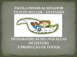 ESCOLA ESTADUAL SENADOR FILINTO MULLER – EXTENSÃO