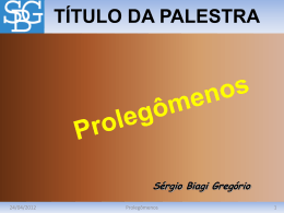 Prolegômenos
