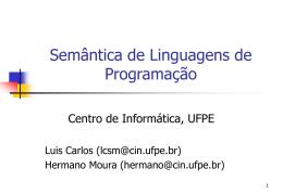 semantica - Centro de Informática da UFPE
