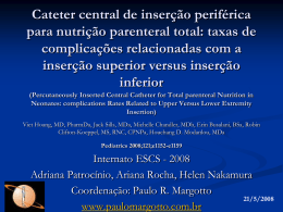 Cateter central de inserção periférica para nutrição parenteral total