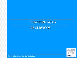 FGVTERCEIRIZAÇÃO_2010.1 - Acadêmico de Direito da FGV