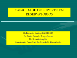 CAPACIDADE DE SUPORTE