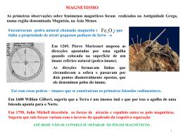 Força magnética e Campo magnético