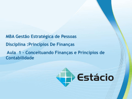aula 1 – conceituando finanças e princípios de contabilidade