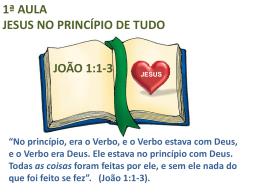 o senhor jesus no princípio de tudo