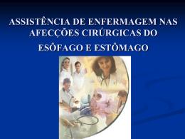 ASSISTÊNCIA DE ENFERMAGEM NAS AFECÇÕES CIRÚRGICAS