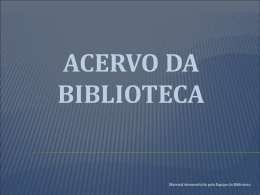 Biblioteca - Colégio Santa Cruz