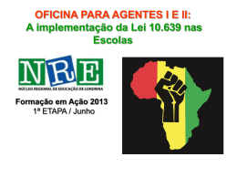 cultura afro-brasileira - Página das Equipes Multidisciplinares
