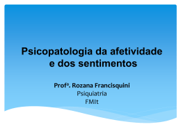 Psicopatologia da afetividade