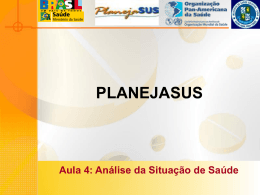 ANÁLISE DA SITUAÇÃO DE SAÚDE - Secretaria da Saúde