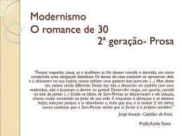 modernismo 2ª geração Prosa