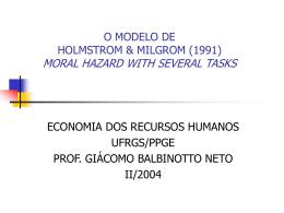 O MODELO DE HOLMSTROM & MILGROM (1991)