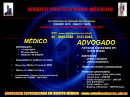 DIREITO PRÁTICO PARA MÉDICOS - barros consultoria e assessoria