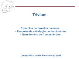 Apresentação sobre o software de árvore de conhecimentos Trivium