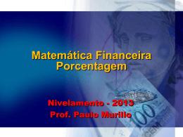 Matemática financeira – porcentagem