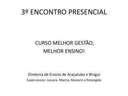 curso mgme_e3 - Diretoria de Ensino