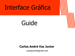 Interface Gráfica (usando Guide)
