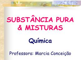 SUBSTANCIA PURA E MISTURAS