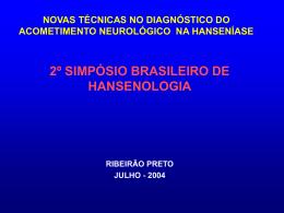 simposio brasileiro de hansenologia acometimento