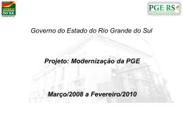 Assista à apresentação do Projeto de Modernização da PGE