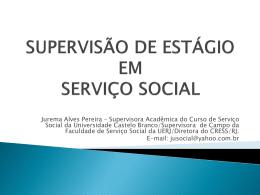 SUPERVISÃO EM SERVIÇO SOCIAL