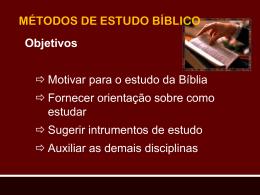 01 – métodos de estudos bíblicos