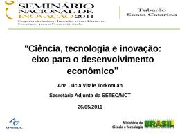 Plano de Ação em Ciência, Tecnologia e Inovação para o