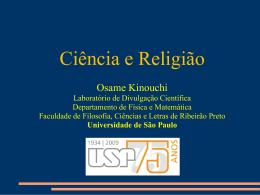 Ciência e Religião - Stoa - Universidade de São Paulo