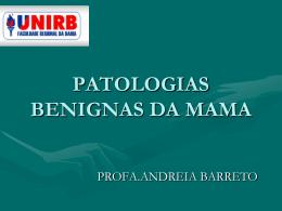 PATOLOGIAS DA MAMA