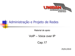 Cap.17 – VoIP Voice over IP - Turma 3B