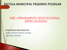 Slide 1 - Professores do AEE/ V -2014