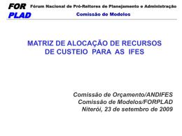 Apresentação da matriz - Unifal-MG