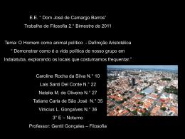 """E.E. """" Dom José de Camargo Barros"""" Trabalho de Filosofia 2"""