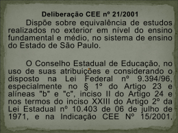 Slide 1 - Diretoria de Ensino Região Centro Sul