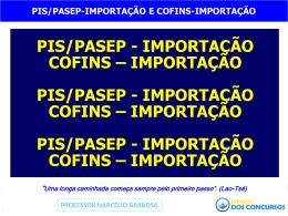 PIS/PASEP-Importação - Voltar para Espaço dos Concursos