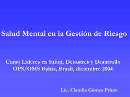 Saúde mental na gestão de riscos