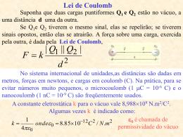 Aula 2 – Lei de Coulomb