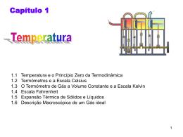 Temperatura e a Lei Zero da Termodinâmica