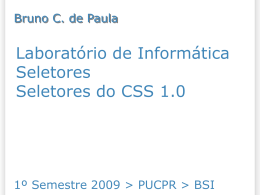 seletores introduzidos do CSS 1.0